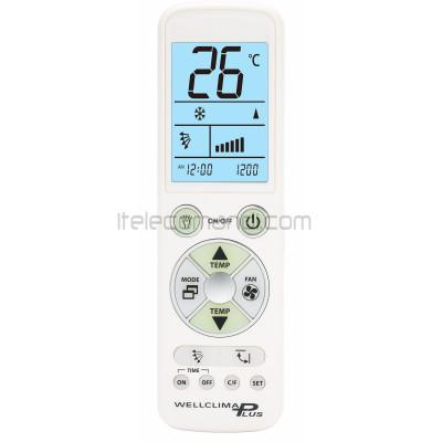 telecomando climatizzatore universale wellclima plus