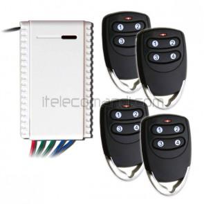 kit ricevitore R5111 con 4 telecomandi