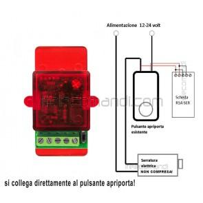 ricevitore serratura elettrica rx1 ser